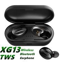 XG-13 Bluetooth 5.0 Cell Phone Earphones Mini Wireless Headphone XG13 Sports Handsfree Waterproof Earbuds Stereo Dual Headset With Charging Box