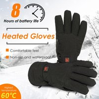 Men's and women's warm gloves, 7.4v waterproof anti-skid electric with 3 temperature settings, outdoor skiing, snowboarding