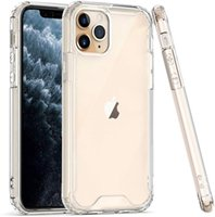 Clear Acrylic TPU PC Shockproof Phone Cases for iPhone 13 12 Mini 11 Pro Max XR XS 6 7 8 Plus Samsung Note20 S20 S21 Ultra A12 A22 A32 A52 A72 S21FE