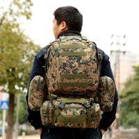 50L große Kapazität MOLLE Militärrucksack Hohe Qualität Wasserdichte Reisetasche Packung Armee Tasche Rucksäcke Mochila Masculina y200920