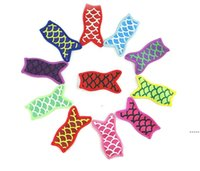 Ice Cream Holders Cute Mermaid Printing Sublimated Freezer Pop Popsicle Sleeves For Kids Summer Kitchen Tools DHB7206