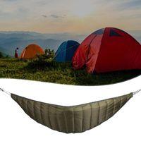 Camping al aire libre Longitud completa Hamaca Subestima Ultralight Winter Warm Barm A Manta de Edredón Algodón Bolsos de dormir