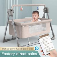 Baby Cribs Crib Cradle Born Movable Portable Nest Travel Bed Game With Mosquito Net Sleeping Rocking