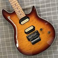 Music Man Axis Eddie Edward Van Halen Electric Guitar Red Flame Maple Top, Floyd Rose Tremolo Bridge, Locking Nut, Vintage Tuners, Zebra Pickups