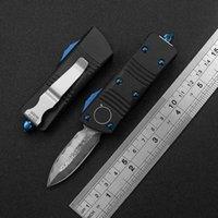 Мини открытый кемпинг портативный автоматический нож Damascus Blade Aviation Aluminium CNC ручка приключение EDC многофункциональный инструмент