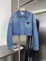 Kadın Denim Ceketler Ince Stil Aşağı Parkas Lady Ile Mektubu Fermikler Düğme Tükent Bahar Sonbahar Ceket Kot Moda Ceket Denims Uzun Kollu Kısa Mont