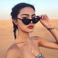 Sunglasses Vintage Fashion Eye Retro Cat Eyewear Women Triangular Sun Glasses UV400