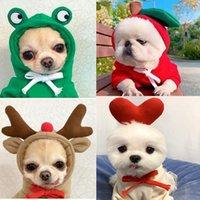 Komik Pet Köpek Giyim Elk Kostümleri Sevimli Sıcak Kış Coat Noel Cadılar Bayramı Karikatür Giyim Küçük Orta Köpekler için Moda Kedi Evcil Kıyafetler