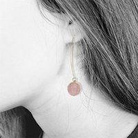 Moda Resina Brincos de Pedra Druzy Brincos Drusy para Mulheres Chapeamento De Ouro Rodada Círculo Forma Ear Melhores Jóias Presentes 2 N2