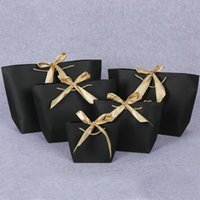 Gift Wrap 3 Sizes Large Small Paper Bag Festival Bags With Handles Ribbon Shopping Clothing Cosmetic Packing Lin5135