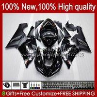 Full Fairings For KAWASAKI NINJA ZX600C ZX-600 ZX 6R 600CC 6 R ZX636 05-06 Bodywork 7No.0 ZX-636 600 CC ZX6R 05 06 ZX600 ZX 636 ZX-6R 2005 2006 OEM Bodys Kit Glossy Black