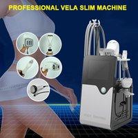 Vela Corpo Forma Cellulite Roller Massager 40K Cavitação Multipolar RF Vácuo Lipoaspiração Máquina com Rolos Massagem Traje De Vacuum Slimming Terno