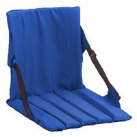 Outdoor Pads Portable Backrest Chair Camping Beach Folding Seat Solid Blue, Red, Black Cushion