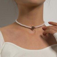 Chokers Koreanische Version von Ins Blume Perle Halskette Weibliche Kurze 2021Designer Serie Mode Hochzeitsempfang Muttertag Paar Geschenk
