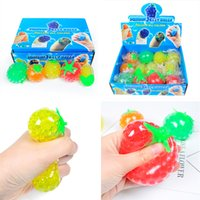 Fidget Toys Fruit Ball Decompression Extrusion Grape Balls Squeeze Novelty Gag Vent Beads Soft Bubble Pinching Stress Relief Toy for Children Gifts