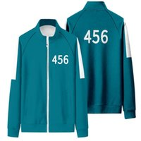 Men Women Squid Game Hoodie 067 001 Zipper Jacket Unisex Sweatshirt Sportswear Cosplay Costume