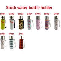 10 colores Neopren Webware Water Bottle Holder Bolsa de manga aislada Funda de la taza de la bolsa para 500 ml Cyz3077