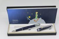 高品質銀のトリムオフィスの学校の供給完璧な贈り物と小さなプリンスシリーズの噴水ペンの青い体