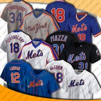 Mets 12 Francisco Lindor Jersey Man Woman New 20 Pete Alonso 48 Jacob Degradh Jerseys York 31 Mike Piazza 6 Jeff McNeil Jersey Marcus Stroman