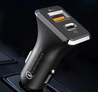 자동차 충전기 QC3.0 + 타입 C 빠른 자동차 충전기 USB C 18W PD 유니버설 삼성 Huawei에 대한 빠른 충전