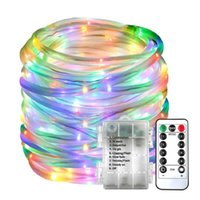 Strings 5M 10M LED Rope Strip Lights Remote Control Tube Garland Fairy Lighting For Outdoor Indoor Garden Christmas Decor