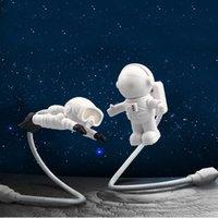 Creative Design Energy Saving Night Light Astronaut Spaceman USB LED Computer Laptop Notebook Lamp Mini Keyboard