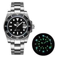 Saatı Addies Dalış İzle 200 M 2115 Kuvars Saatler Erkekler C3 Süper Aydınlık Takvim Dalış Moda Paslanmaz Çelik Erkekler