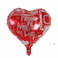 Mutlu Anneler Günü Balonlar 18 inç Folyo Aşk Şekilli Anneler Günü Balon İngilizce İspanyolca Mylar Helyum Balonları Owe5971