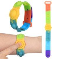 DHL divertente fidget giocattoli sensory mini bolla bolla figet semplice tampone braccialetto anti-stress bordo autismo educativo per bambini