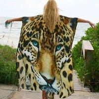 Swim Wear Beach Cover up Tunics for Print Chiffon Long Kaftan Bikini Coverup Robe de Plage Sarong Wrap Swimsuit cover-up