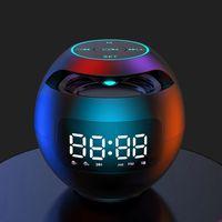 Light Mini Bluetooth Speaker Portable Alarm Clock Timer Column For PC Computer Speakers Music Center Boombox Caixa De Som FM