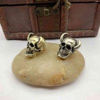 Guyi jóias gancho ângulo esqueleto bronze faca tendência crânio guarda-chuva corda pingente carro chaveiro cobre