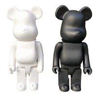 400% Bearbrick Ayı @ Tuğla Aksiyon Figürleri Ayı Oyuncaklar PVC 28 CM Model Rakamlar DIY Boya Bebekler Çocuk Oyuncakları Çocuk Doğum Günü Hediyeleri Q0722
