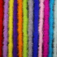 Decorazione del partito Strips colorato Diametro Diametro 7-9cm 2metro / lotto Fluffy Turchia Piume Boa Black Bianco Piuma Per Artigianato Boas Strip Carni