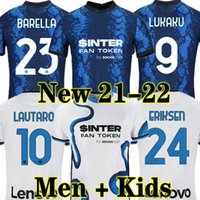 Inter Mailand Fußball Trikot Inter milan soccer jersey football shirt VIDAL LUKAKU BARELLA ERIKSEN LUKAKU LAUTARO 21 22 Fußball-Trikot 2021 2022 Uniformen Maglia da Calcio