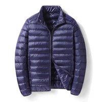 Brand Men's Winter Down Jackets Autumn Large Short Lightweight Slim Parkas Coats Clothing Ultra-thin Jacket Men