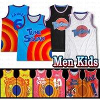 Space Jam 2 Basketball Jersey Bugs Bunny! James Taz 1/3 Tweety Tunes Squad 10 Lola Lebron 23 Michael 22 Bill Murray Männer KDIS Nähed Jersey