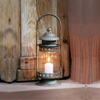 Mumluklar Nordic Stil Bahçe Dekorasyon Açık Fener Tutucu Vintage Rüzgar Geçirmez Tealight Bougeoir Ev EC50ZT