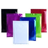 "100Pcs lot Zip Lock Bag 9x13cm(3.54""x5.12"") Glossy Mylar Foil Recyclable Pack Pouches Tear Notch Zipper Coffee Bean Storage Bag"