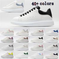 [С коробкой]Alexander McQueen Sneaker All White fashion luxury espadrille flat flats alexander mcqueens men mcqueen eoversized sneaker men women platform shoes baskets sneakers
