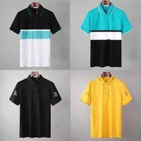 21s Calssic polo camisas homens t - shirts Bordado de moda impressão letras negócio manga curta tee skate tops casuais Tees M-2XL