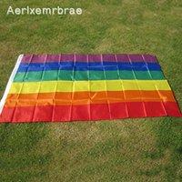 Флаги баннера Aerlxemrbrae Rainbow Flag 3x5 FT Polyester Flag Gay Pride Мир Лесбиянка Гордость Мира Пеннанционар Флаг