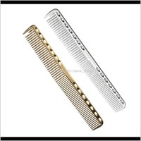 فرش أدوات تصفيف العناية منتجات إسقاط التسليم 2021 عالية المستوى مساحة الألومنيوم مشط تصفيف الشعر المعادن، مشط الحلاق المهنية، واستخدام ل