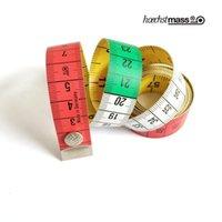 Fita da fivela da cor de qualidade alemã, métrica e fita de cor dobro dobro da métrica e britânica, fita de costura, botão da correia de medição