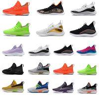 Dernier anniversaire à sang froid Warrior Blue Curry 8 hommes Chaussures de basketball Fashion Nerf Patch pour enfants Vert Orange Visite sous-estimée Noir 7s Baskets Sport Sport