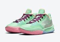Kids Kyrie Low 4 إبقاء سو الطازجة الرجال النساء أحذية كرة السلة مبيعات 2021 جودة عالية الأخضر أسود أصفر حذاء متجر مع مربع حجم 4-12