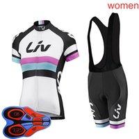 LIV equipo de verano para mujer ciclismo mangas cortas jersey babero pantalones cortos conjuntos mtb bicicleta ropa transpirable carreras bcycle trajes Outdoo Sportswear S210052634