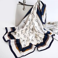 2020 Fashion Luxury Silk Satin Neck Head Scarf Women Scarfs Female 70*70cm Kerchief Square Shawls and Wraps Scarves Bag Bandana1