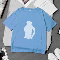 Camiseta para mujer 100% algodón diseñador de algodón Polo T Shirt de manga corta Casual suelto divertido divertido Tee Shirts con patrón de oso de los EEUU PRI