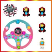 Fidget Toys Squid Game Silicone Push Bubble Sensory Reliever Stress for Keychain Adult Children Autism Antistress Christmas Toy In stock Fast Delivery DHL